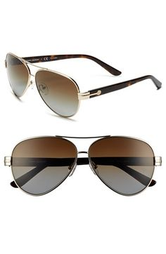Tory Burch 59mm Polarized Aviator Sunglasses (Online Only) available at #Nordstrom