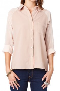 Newcombe Blouse in Nude