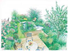 Gestaltungsvorschlag natürlicher Garten