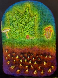 Age 11 ~ Botany ~ Mushroom Kingdom ~ chalkboard drawing