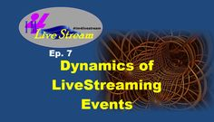 Happens at 4:30p ET / 1:30 PT TODAY JUNE 6! Learn about the#Dynamics of #LiveStreaming! https://youtu.be/3vp8sozFOgw