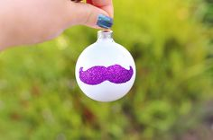 The Cheese Thief: Easy Glitter Mustache Christmas Ornament DIY