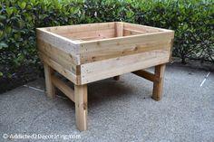 #DIY elevated garden bed