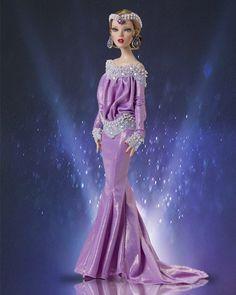 doll dress purple vintage dress for Tonner Ellowyne Deja Vu Antoinette doll