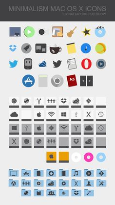 MINIMALISM MAC OS X ICONS by ~xenatt on deviantART