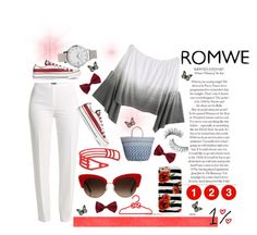 """Top from Romwe!"" by jelena-topic5 ❤ liked on Polyvore featuring Basler, Lucky Brand, Olivia Burton, Converse, Trish McEvoy, New Look and Dolce&Gabbana"