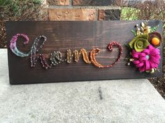Strung by Shawna Handmade Felt, Cursive, Felt Flowers, String Art, Girl Nursery, Create, Punch, Tin, Projects