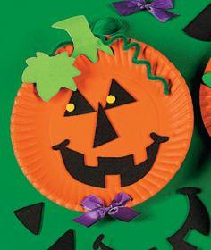 Risultati immagini per zucca di halloween lavoretto con il piatto