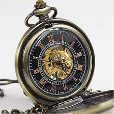 10pcs/lot Vintage Renaissance Oil Painting Pattern Mechanical Pocket Watch Necklace WE118