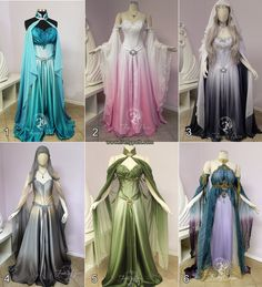 Good Morning Princess! Which Gown would you like to wear today?