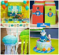 Octonauts themed birthday party via Kara's Party Ideas KarasPartyIdeas.com Cake, supplies, recipes, tutorials, banners, food, and more! #octonauts #octonautsparty #octonautscake (1)