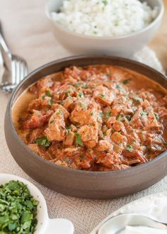 """This slow-cooker meal is a near replica of the stovetop chicken tikka masala that I shared a while back. To make it better for the slow cooker — and easier for those of you who need to get this going before heading to work — I streamlined all the steps and made this a simple """"dump-and-go"""" recipe. This dish cooks while you're away and is ready to be served over Basmati rice when you're home."""