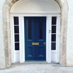 Old castlegate front door Farrow And Ball Paint, Farrow Ball, Exterior Doors, Interior And Exterior, Inchyra Blue, Front Door Colors, Front Doors, House Entrance, Trim Color