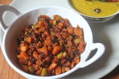 Delicious carrot poriyal which hails from kerala. Taste great with dal curry or rasam. You can use any veggies as you like.