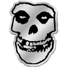 "MISFITS skull LARGE 10/"" RUB-ON STICKER WHITE *Free Shipping* crimson ghost"