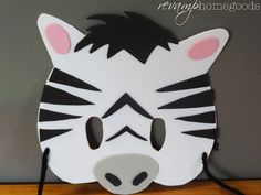 Kids Crafts:  Foam Animal Masks