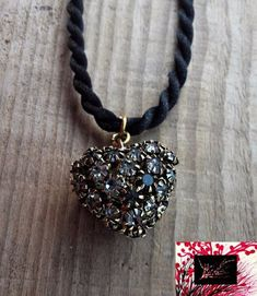 Diamond heart Diamond Heart, Necklaces, Pendant Necklace, Jewels, Trending Outfits, Unique Jewelry, Handmade Gifts, Etsy, Kid Craft Gifts