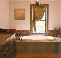 Primitive bathrooms 624593042059363055 - Small floor tiles rust color – Early American Country Interiors by Tim Tanner Source by Shabbydecorwithmia Country Primitive, Primitive Country Bathrooms, Prim Decor, Country Decor, Primitive Decor, Primitive Christmas, Bathroom Colors, Bathroom Ideas, Bath Ideas