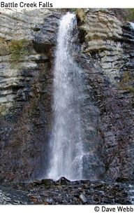 Utah hike trail: Battle Creek Falls,  Pleasant Grove