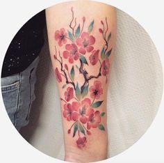 Sakura+tattoo+on+forearm+by+Bonnie+Souris