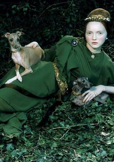 """Like a Portrait""- Lily Cole by Miles Aldridge for Vogue Italia February 2005 Foto Fashion, Fashion Shoot, Editorial Fashion, Fashion Art, High Fashion, Lily Cole, Editorial Photography, Fashion Photography, Glamour Photography"
