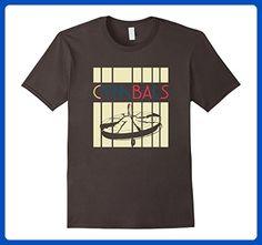 Mens Vintage Style Cymbals T Shirt Retro Design Silhouette XL Asphalt - Retro shirts (*Amazon Partner-Link)