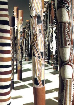 Aboriginal Memorial- installation of 200 hollow log coffins from Central Arnhem Land. It commemorates all the indigenous people who, since 1788, have lost their lives defending their land.