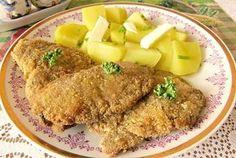 Hlíva v sýrovém obalu Cordon Bleu, Cornbread, Mashed Potatoes, Stuffed Mushrooms, Food And Drink, Pork, Chicken, Meat, Cooking