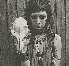 skull and post- apocalyptic girl
