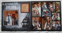 A Pirate's life for me layout. Scrapbooking Layouts, Scrapbook Pages, Disney World Magic Kingdom, Pirate Life, Disney Ideas, Disney Scrapbook, Sea World, Disney Parks, Scrapbooks