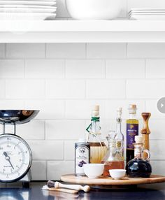 Use a Lazy Susan to hold a collection of oft-used culinary essentials, such as oils, vinegars and spices. Kitchen Interior, Kitchen Design, Kitchen Decor, Kitchen Ideas, Kitchen Inspiration, Fresh Farmhouse, Farmhouse Style, Kitchen Pantry, Kitchen And Bath