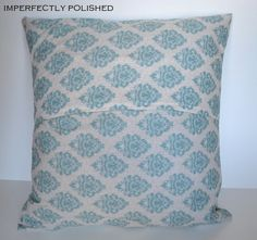 envelope pillow-back seam