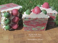 Your place to buy and sell all things handmade Spearmint Essential Oil, Essential Oils Soap, Homemade Body Butter, Homemade Soaps, Strawberry Kiwi, Skin So Soft, Smell Good, Soap Making, Making Ideas
