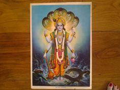 1930's 'Shri Vishnu' by S.S. Brijbasi & Sons Bombay. by Lallibhai, £30.00