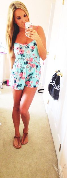 Rompers are my favorite in the summer time