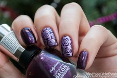 Sally Hansen Complete Salon Manicure 709 Rule Of Plum + стемпинг Moyou London XL PRO Collection 07