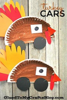 Paper Plate Turkey Cars - Thanksgiving Kid Craft Idea - Turkey Car DIY Idea - Fall Inspired This would go great on a T-shirt! For each created and purchased - the equivalent value is donated to charity! Thanksgiving Crafts For Kids, Thanksgiving Activities, Autumn Activities, Holiday Crafts, Kindergarten Thanksgiving Crafts, Thanksgiving Turkey, Halloween Crafts, Toddler Art, Toddler Crafts