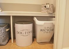 Easy DIY Recycling Bin--much prettier than the ones they give you for free!