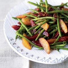 """Green Bean-and-Blood Orange Salad   """"Blood oranges are part of my Sicily fascination,"""" Renato Poliafito says. He uses the segments to add color and tang to green beans and reduces the juice with balsamic vinegar to make the dressing."""