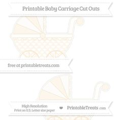Antique White Heart Pattern  Large Baby Carriage Cut Outs