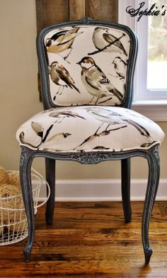 Sophia's: French Chair Reupholstery Makeover and Tutorial