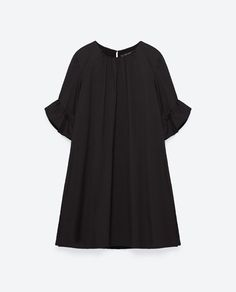 Image 8 of JUMPSUIT DRESS WITH FRILL ON SLEEVES from Zara