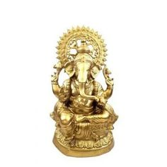 This is A Beautifully Crafted Idol of Brass. It is Crafted From Brass with a Polished Look. Ganesh Statue, Lord Ganesha, Polished Look, Idol, Lion Sculpture, Brass, Beauty, Art, Art Background