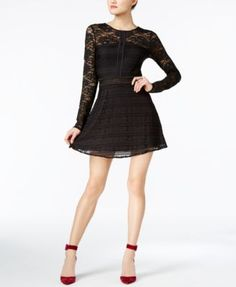 GUESS Francis Lace Fit & Flare Dress $79.99 Make a lasting impression in this sweet lace dress from GUESS.