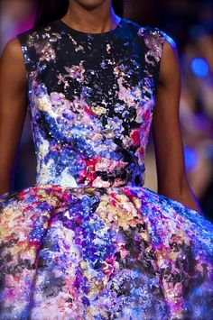 Elie Saab Couture S/S 2014 omggggggggg i saw dresses on ig but this close up is even more lovely than i imagined!
