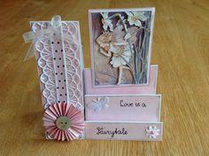 3D step card Flower Fairy - 3D trapkaart Flower Fairy