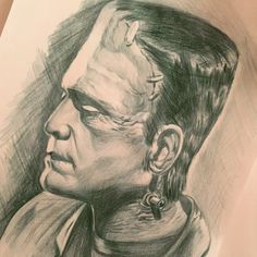 Halloween sketch..monster of Frankenstein..enjoy