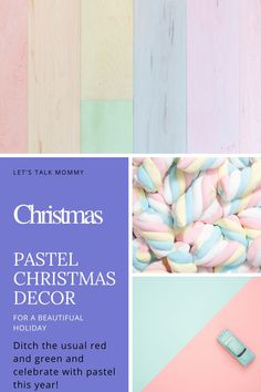 Pastel Christmas decorations ideas. Decorate your home for Christmas with a pastel theme, with a white christmas tree, pastel tree decorations, pastel Christmas lights and more #pastel #christmas #christmasinspo #christmasdecor