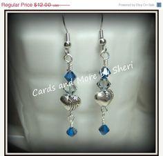 ON SALE Handmade Swarovski & Heart Charm by CardsAndMoreBySheri, $9.60 All handmade jewelry 20% off this week!