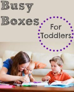 What is a Busy Box, you ask? It's a medium-sized plastic box (preferably with a lid) that contains all manner of items to keep toddlers and ...